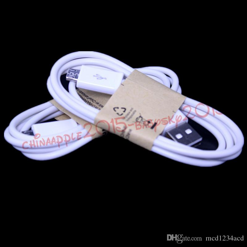 Universal 3ft branco preto micro 5pin USB cabo cabo de carregamento de dados para samsung galaxy s3 s4 nota 2 4 s6 s7 borda htc lg telefone android