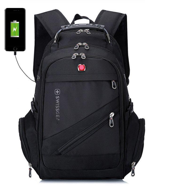 d12b4b4f8 Compre Marca Quente Mochilas Laptop Alta Qualidade Homens Nylon Mochilas  Impermeáveis sacos De Viagem Ao Ar Livre 6 Cores Com Carga USB De  Water_sports, ...