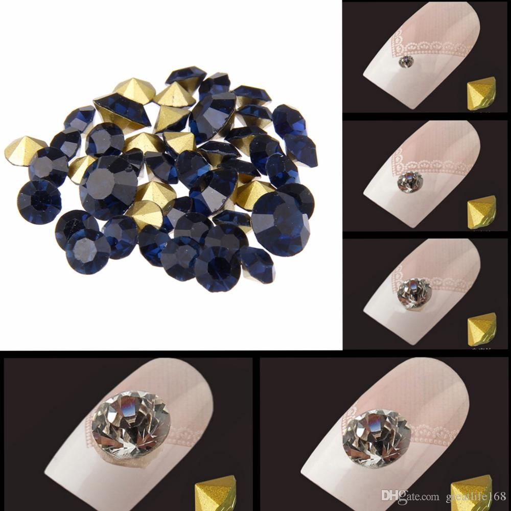 Nail Rhinestones Montana Color Mini Pointback Crystal Stones Loose Strass  Bead DIY Nail Art Decoration Pointback Glass Nail Art Decoration Online with  ... 0e0d20d335b6