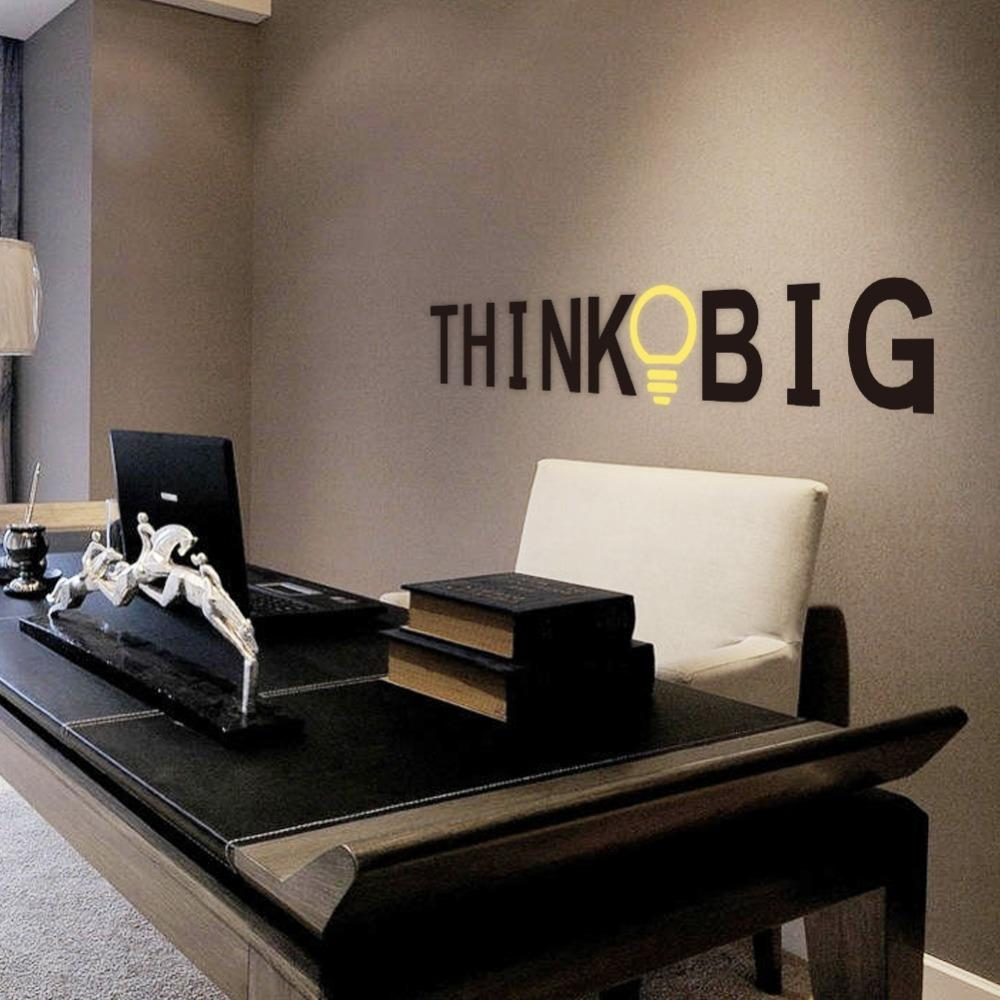creative office wall art. Creative Think Big Quotes Wall Stickers For Kids Rooms Study Room Office Home Decor Vinyl Decals Diy Decorative Mural Art