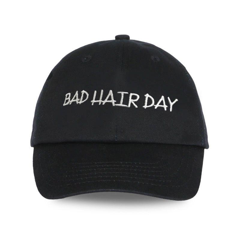 Baseball Cap Men Dad Hat For Women Embroidery BAD HAIR DAY Hat Black Sports  Full Cap Visor Male Bones Baseball Hats Fitted Baseball Caps For Men Mesh  Hats ... 5b4e5db4904