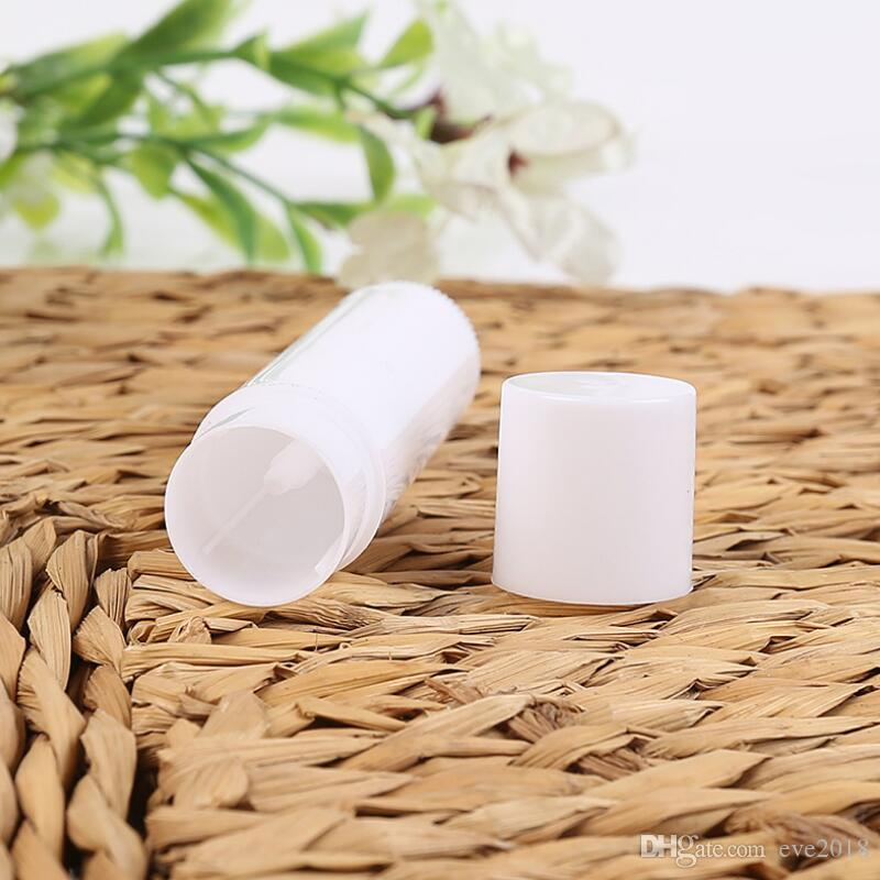 Atacado 5 ml Cosméticos Vazio Lip Gloss Batom Tubo Bálsamo + Caps Chapstick Container Frete Grátis LX2397