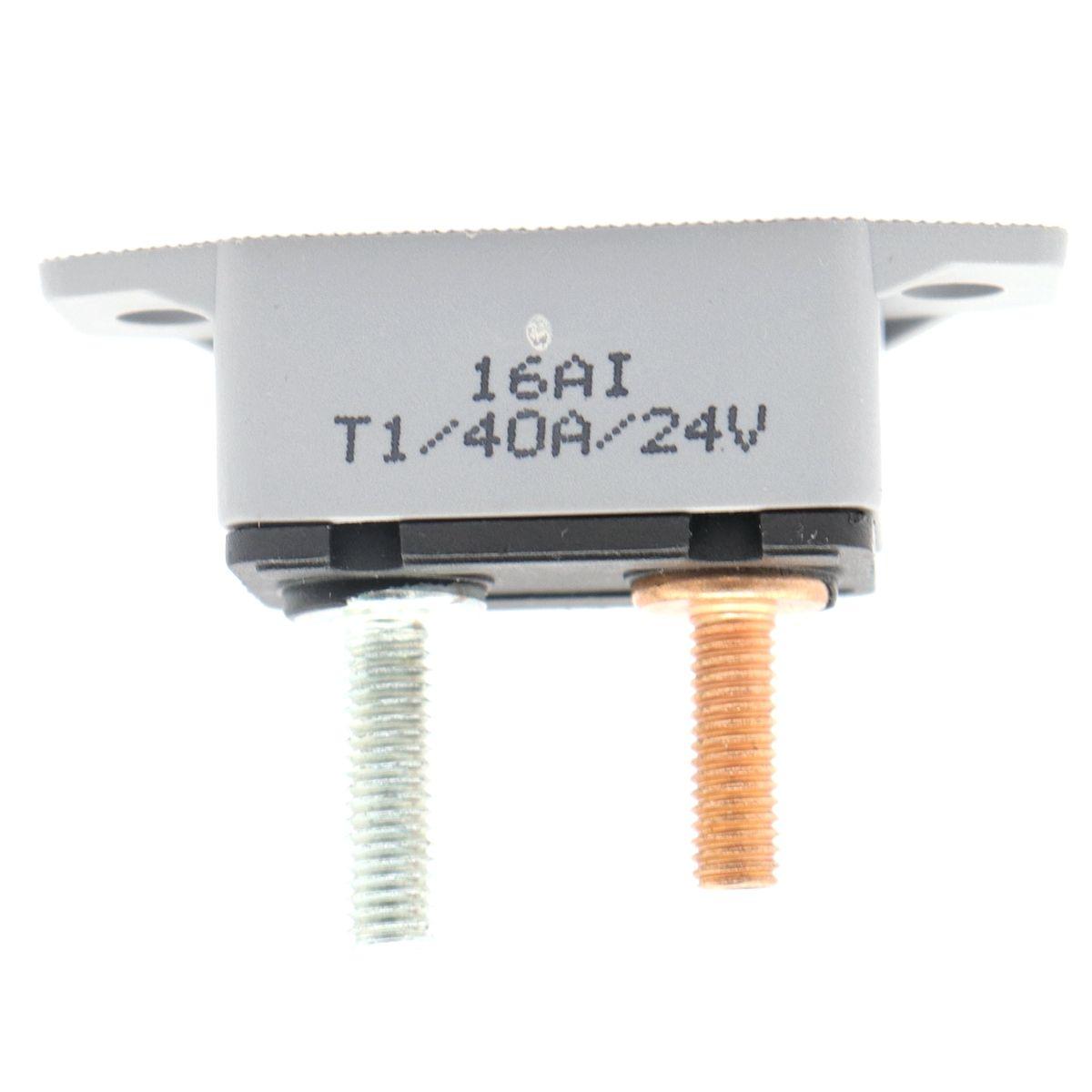 ZOOKOTO hot sale 12-24V 40 Amp fuse holder ATV Automatic Reset Circuit  Breaker Fuse holder 40A