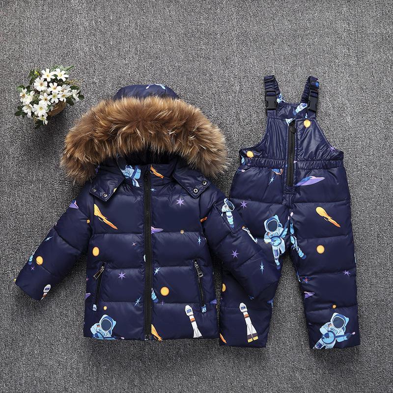 8a3c2ff63 Toddler Boys Girl Clothes Sets Children'S Down Jacket Winter Warm Hooded  Real Fur Newborn Infant Children Costume Snow Suit 30# Boy Coat Best Kids  Winter ...