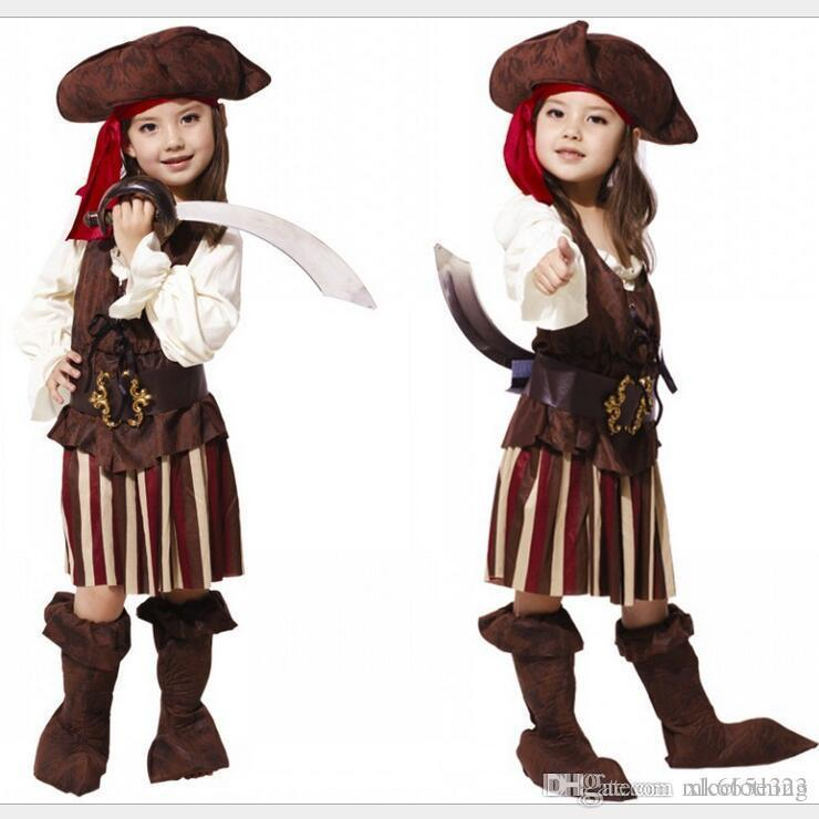 Halloween Costumes For Girls Age 13.Baby Cosplay Sexy Spanish Pirate Halloween Costumes For Girls Pirate Costume Dress Party Uniform Outfits Kids Clothing