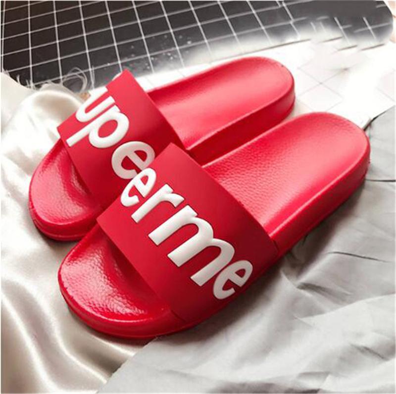 e2d8d8ad024b NEW Designer R7Supreme Box Logo Slippers Sandals Causal Non-slip ...