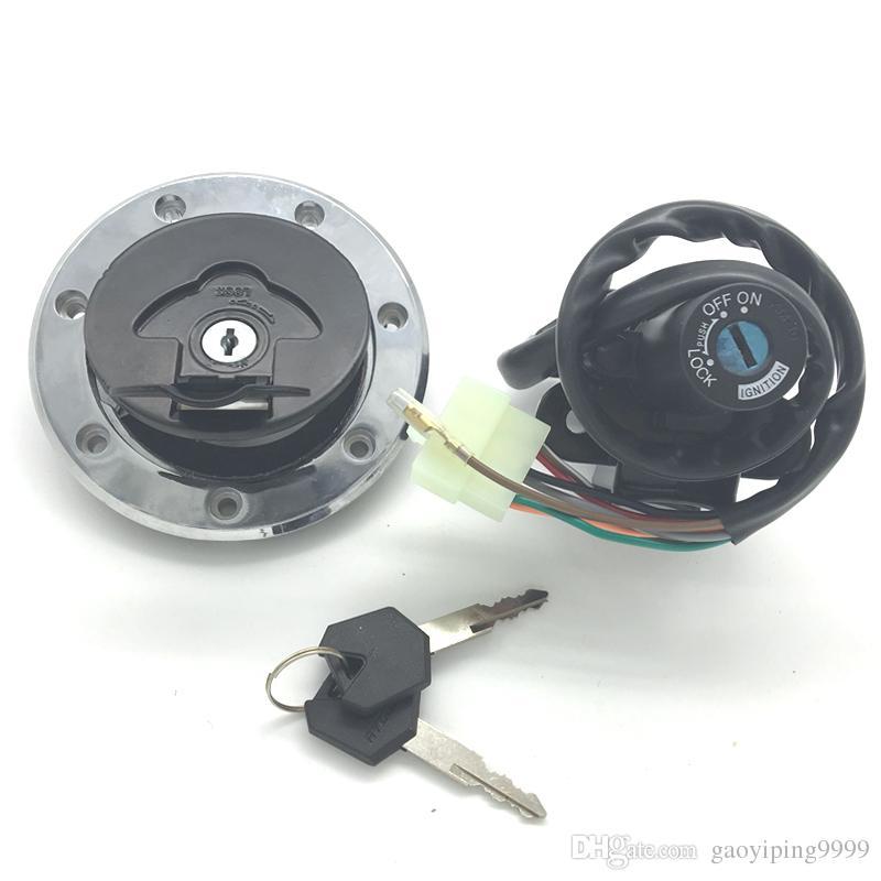 Motorcycle Ignition Switch Fuel Gas Cap Seat Lock Key Set For kawasaki  kawasaki Ninja ZX6R 2000-2002 ZZR600 1993-2004 ZX9R 1994-2003