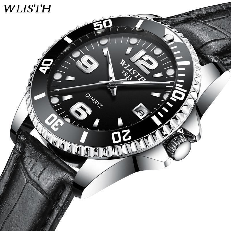 WLISTH Men S Luxury Quartz Watch With Calendar Fashion Men Watches Luminous Wristwatch  Waterproof Clocks Fluted Bezel Jewelry Affordable Watches Good ... d832bdc5cfa8