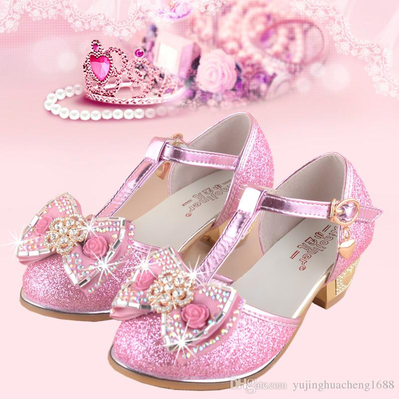 4f218d6b2abeb1 Flowers Girls Princess Sandals 2018 New Summer Children Wedding Shoes For  Student Glitter Kids Party Shoe Size 27~37 Shoes Leather Leather Shoes For  Toddler ...
