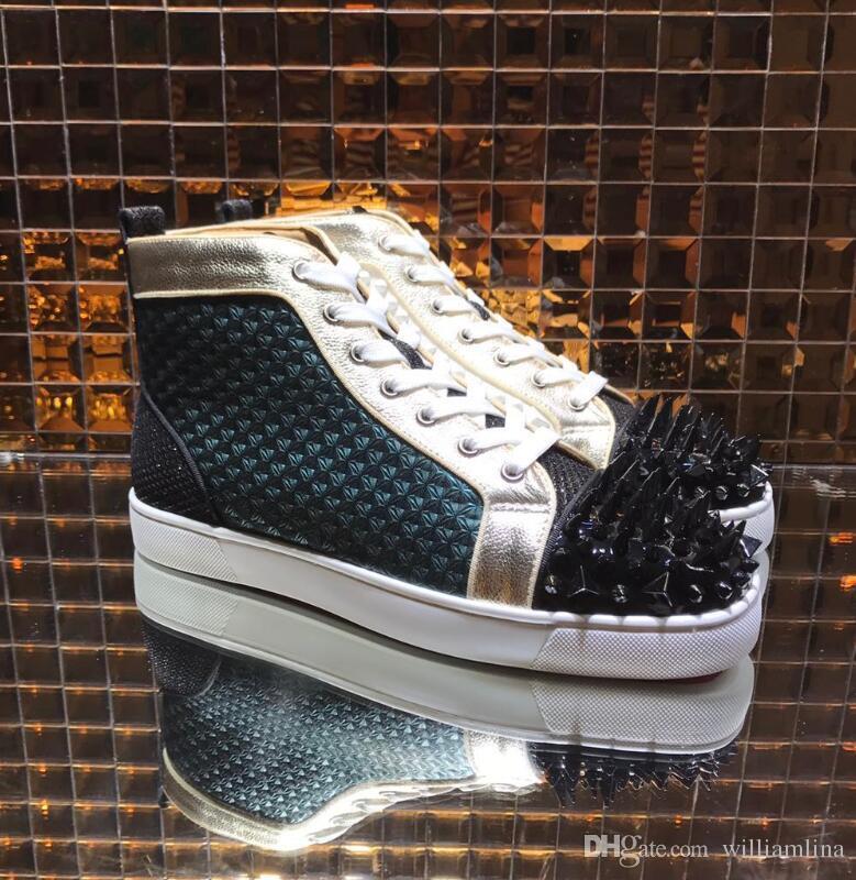 Pik Schuhe Trainer Sneaker Frauen High Sneakers Spikes Wandern Bis Komfort Top Kleid Casual Leder Schuh Lässig Freizeit Mens Designer rdthsQxC