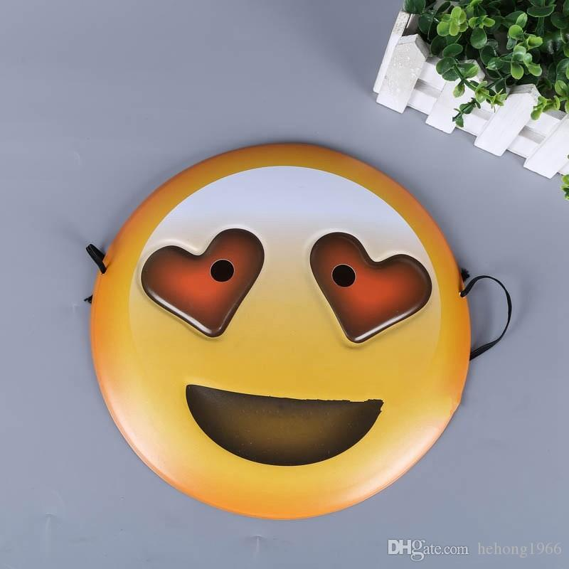 DIY Emoji Mask Cartoon Lovely Yellow Smile Masquerade Masks Halloween Props Party Supplies Many Styles 1 85jh C