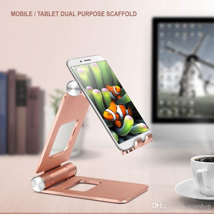 Foldable Tablet Stand Cell Phone Mount Holder Multi-angle Adjustable Desktop Phone Stand Universal for 4-13 Inches Devices