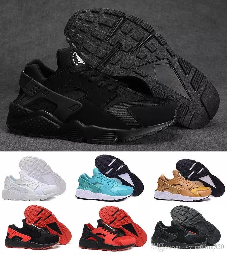 new arrival ef4bc 18a4f Acheter Nike Huarache 1.0 2.0 4.0 New Air Huarache 1 I Courir Premium  Hommes Femmes Chaussures De Course Rose Jaune Sneakers Trainers Huaraches  Hommes ...