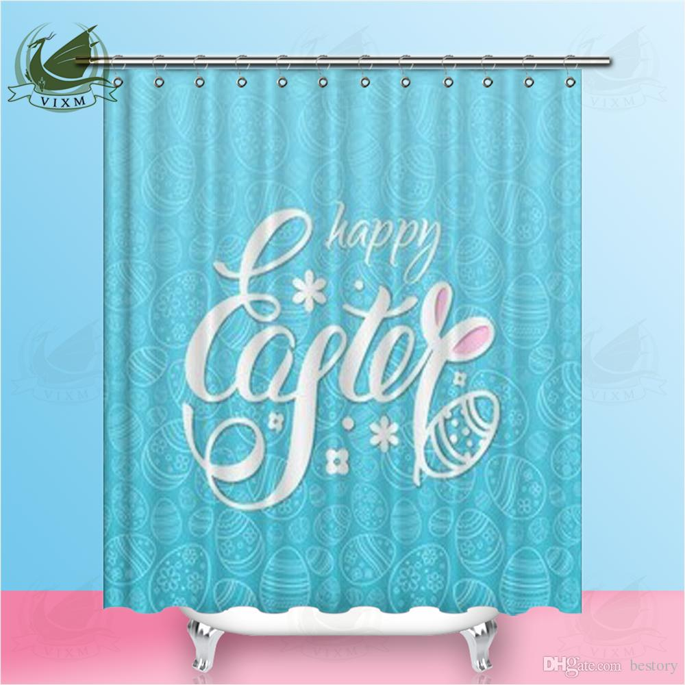 2019 Vixm Home Christmas Rabbit Shower Curtain Simple Modern Girl Heart For Bathroom With Hooks Ring 72 X From Bestory 1665