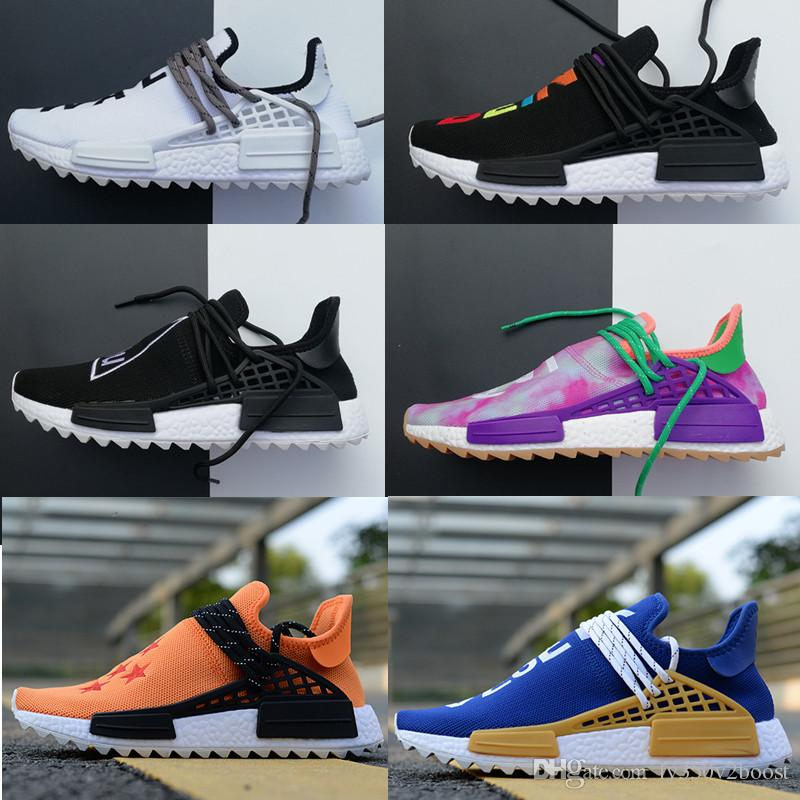 100% High Quality Pharrell Williams NMD Sports Running Shoes,Discount Cheap Mens Casual Outdoor Boost Training Sneakers With Box + 1 Socks