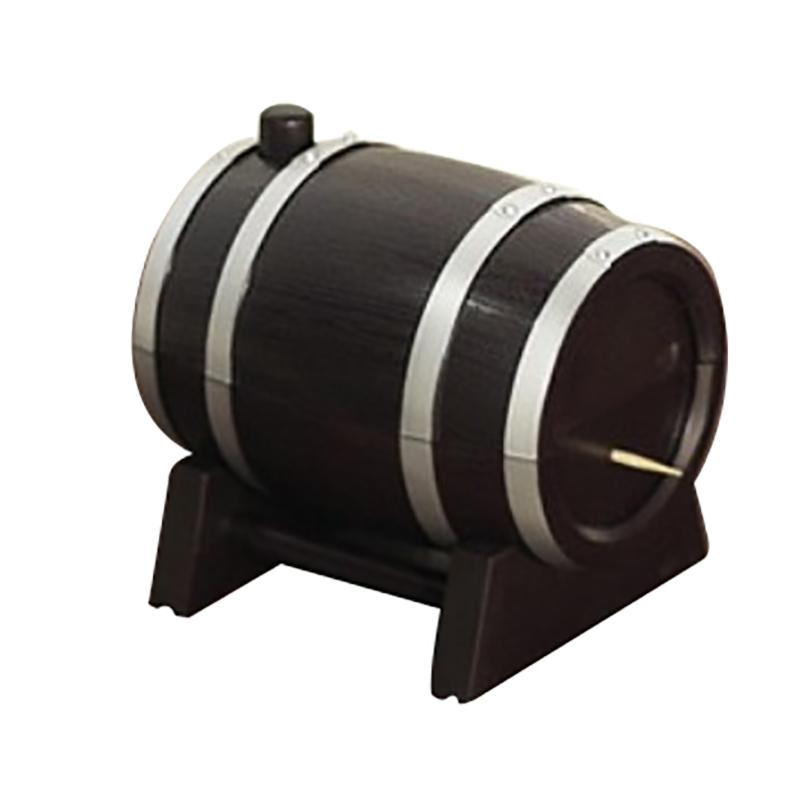 Creative Household Wine Barrel Plastic Automatic Toothpick Box Container Dispenser Holder Popular