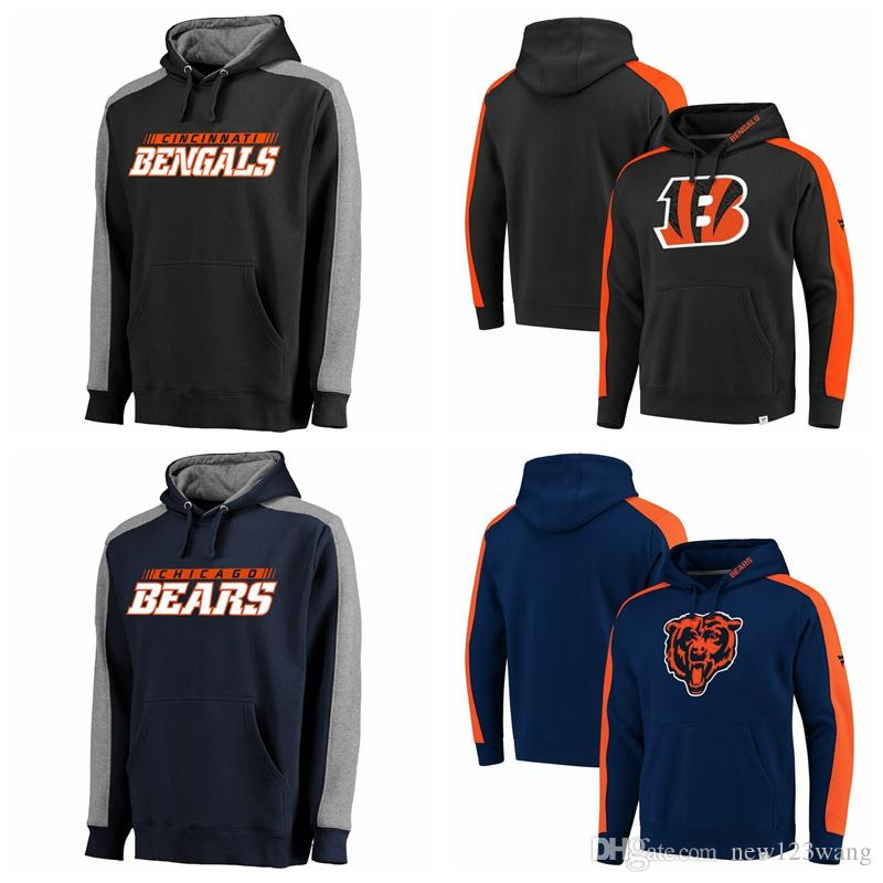 Cincinnati Bengals Or Chicago Bears Pro Line by Fanatics Branded Iconic  Westview Pullover Hoodie Black BlackOrange Navy NavyOrange Cincinnati  Bengals Or ... 3c058b61ff