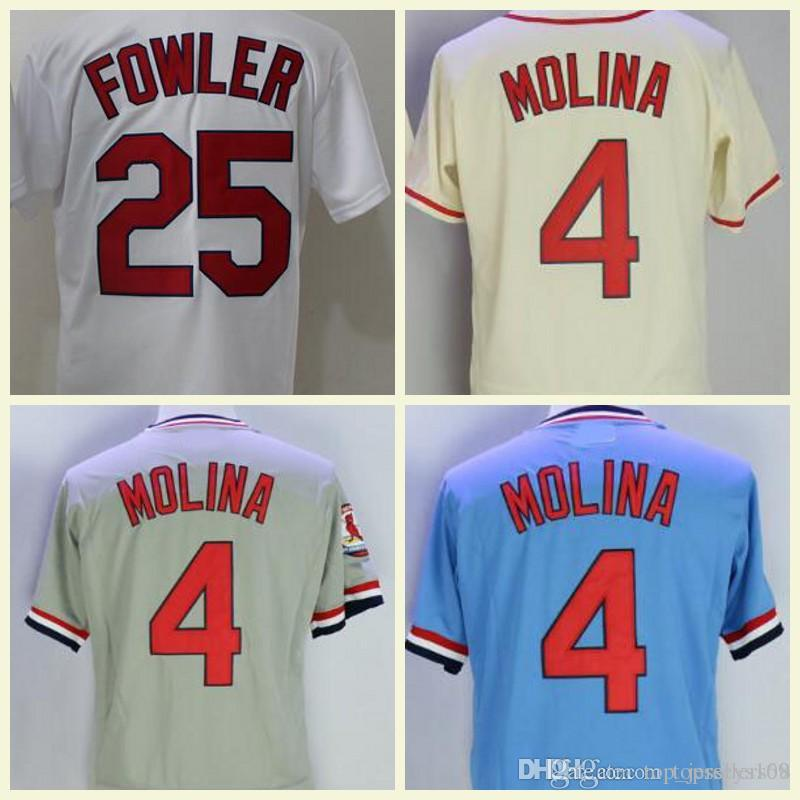 a5781cc31 2019 Cardinals Jersey 25 Dexter Fowler 4 Yadier Molina Jersey White Grey  Red Blue Flex Base Stitched Vintage Baseball From Top jerseys168