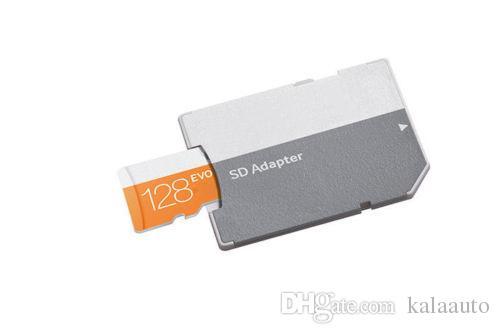 뜨거운 판매 에보 64GB 128 기가 바이트 256 기가 바이트 TF 플래시 메모리 카드 클래스 10 무료 SD 어댑터 소매 블래스터 패키지 Epacket DHL 무료 배송