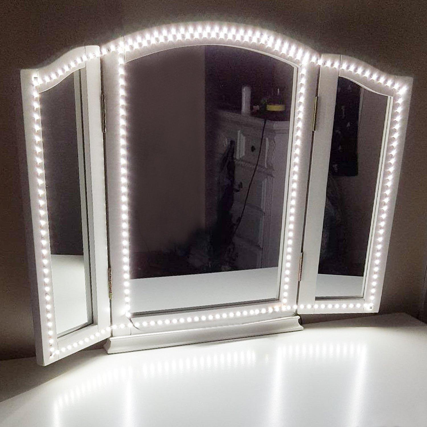 2018 Led Vanity Mirror Lights Kit 13ft 4m 240 Leds Daylight White Hollywood Style Light With Dimmer For Makeup Dressing Table From Wonlight