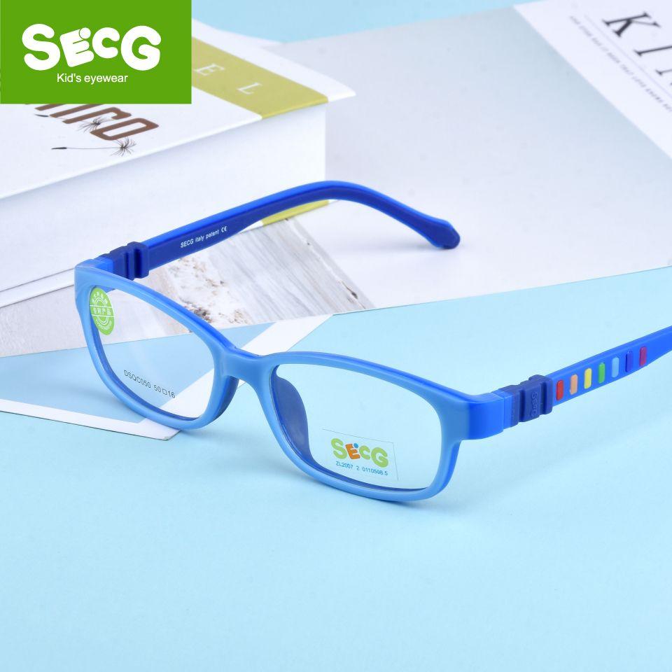 09ad371b3db SECG Children Eyeglasses Frame Silicones Soft TR90 Kids Prescription ...