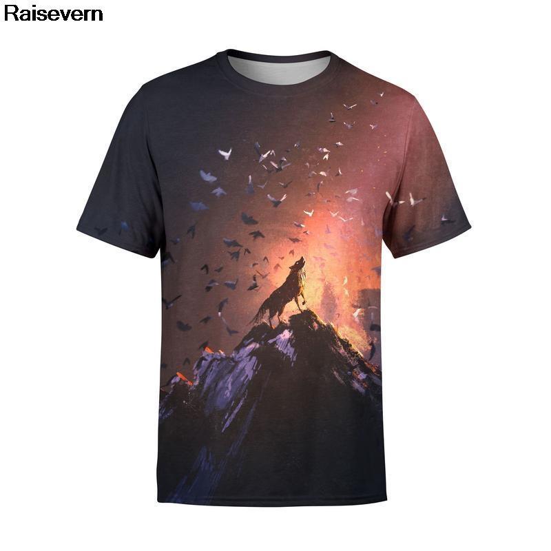 6286cd9f1711 Lone Wolf T Shirt Men Women Short Sleeve Summer Tops Tees Hip Hop Brand  Clothing All Over Printed 3D Tshirt Graphic T Shirt 5XL Best Tshirts Cool T  Shirts ...