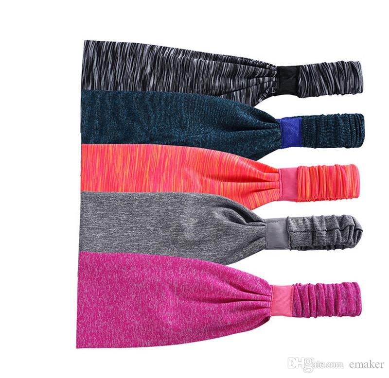 Fasce lo yoga Sport Multicolor Fasce elastiche asciugatura rapida Accessori capelli Accessori la testa DHL libero