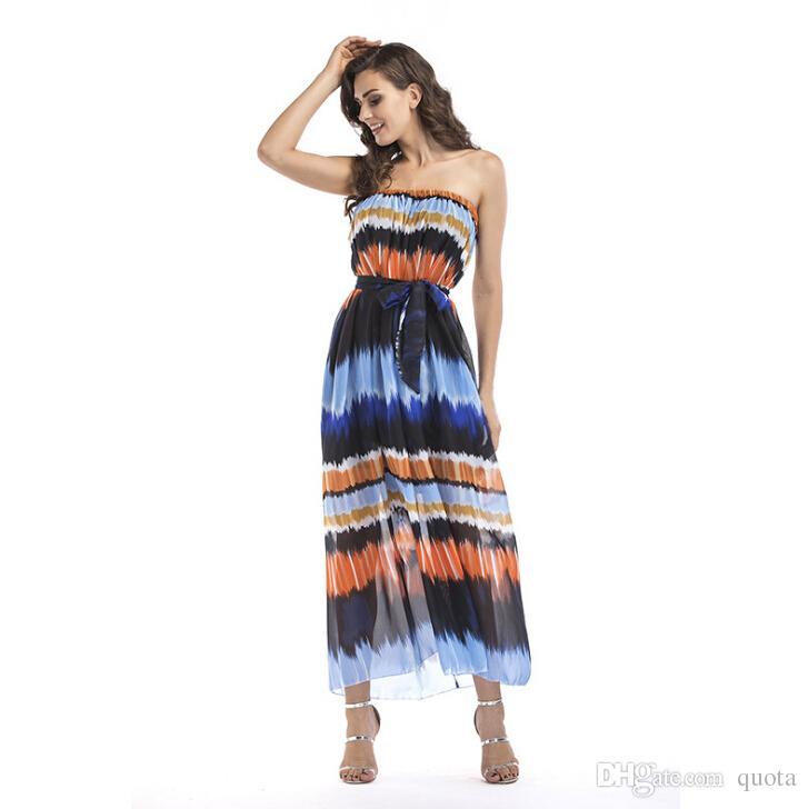 9c6a458858746b Großhandel Frühling Sommer Neue Kleider Band Kleid Sandy Beaches Slash Neck  Reich Frauen Casual Kleider Plus Größe S 6XL Von Quota, $33.11 Auf  De.Dhgate.