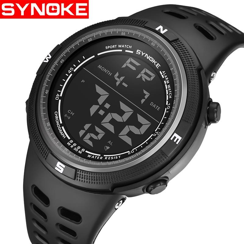 a003b8d9bee Synoke Brand Men S Watches LED Digital Watch Men Wrist Watch Black Alarm  50m Waterproof Sport Watches For Men Relogio Masculino Buying Watches  Online Buy A ...