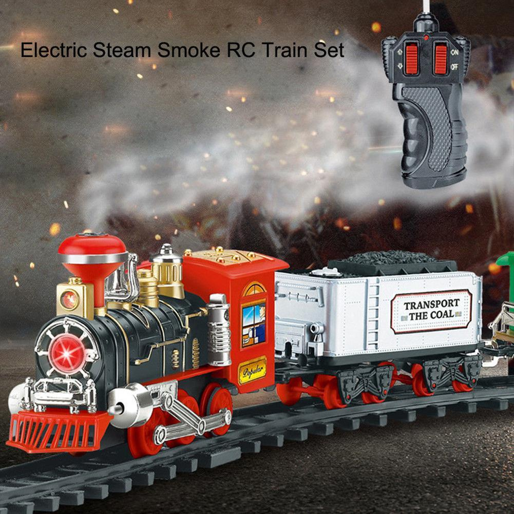 Classic Electric Dynamic Steam Rc Track Train Set Simulation Model Toy Electronics Circuit Board Promotion For Children Rechargeable Remote Control Cool Cars