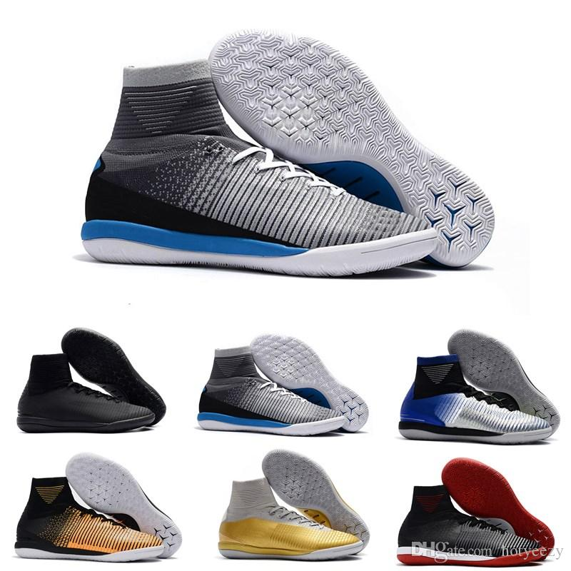 952ed97cd50f 2019 Turf Soccer Shoes Men Original Mercurial Superfly V CR7 Cleats For Mens  Youth High Ankle TF IC Football Boots Indoor From Hotyeezy