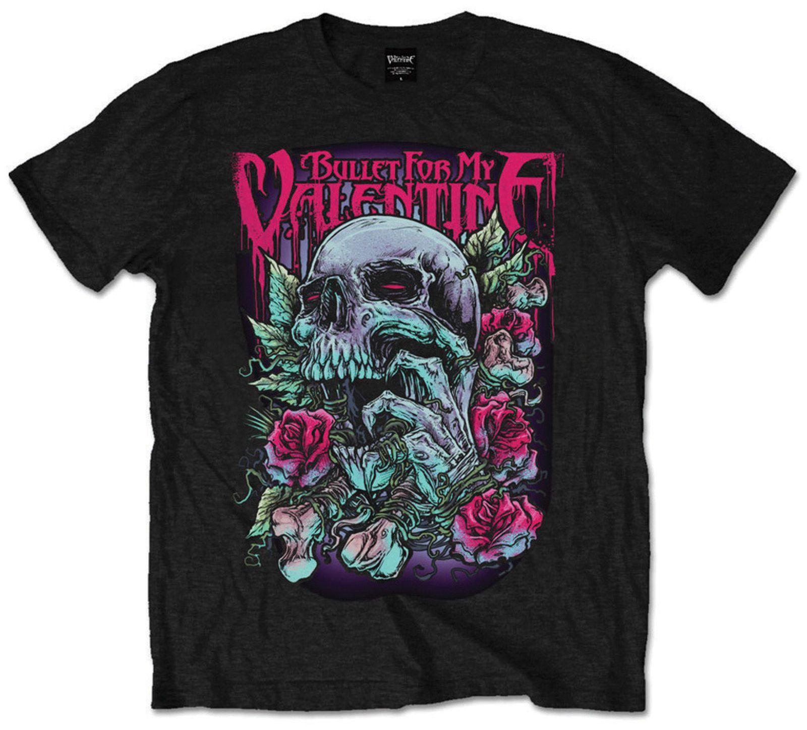 Bullet For My Valentine Skull Red Eyes T Shirt Official Bfmv Mens