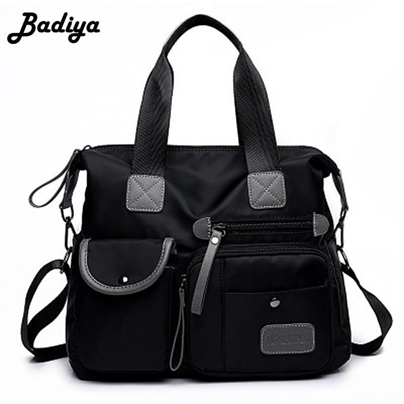 New Waterproof Women Nylon Oxford Handbag Shoulder Bag Large ... 047f02c1dce91
