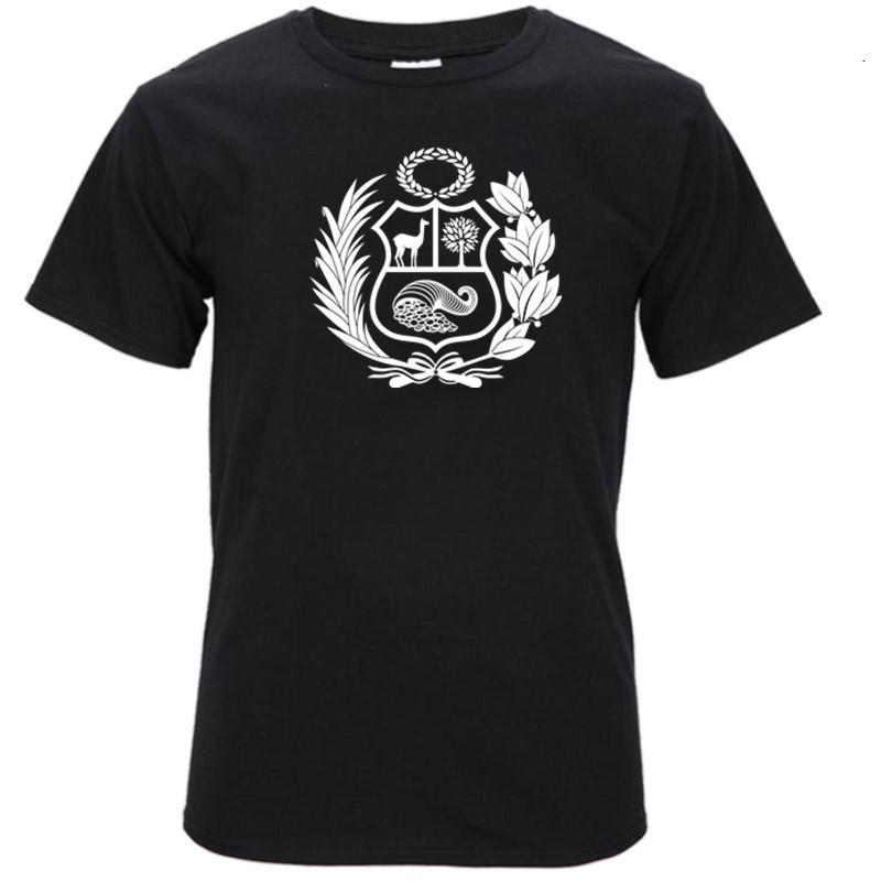 T-shirts Hot Sale Summer Peru Escudo Coat Of Arms Peruvian T-shirt For Women T Shirt