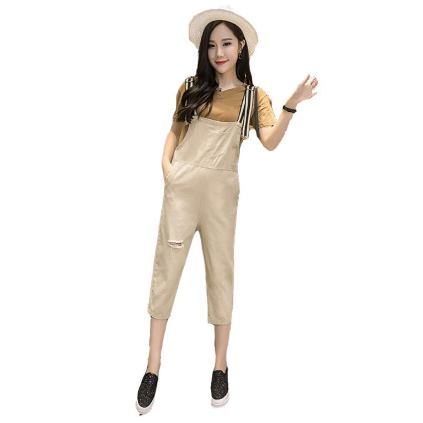 c4e7f3a9ea74 2018 Fashion 3colours Spring Summer Casual Denim Jumpsuits for Women ...