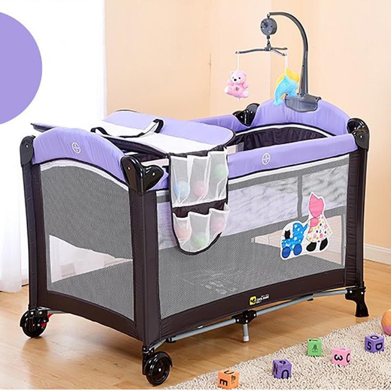 Baby Sincere Portable Folding Baby Crib Multifunctional
