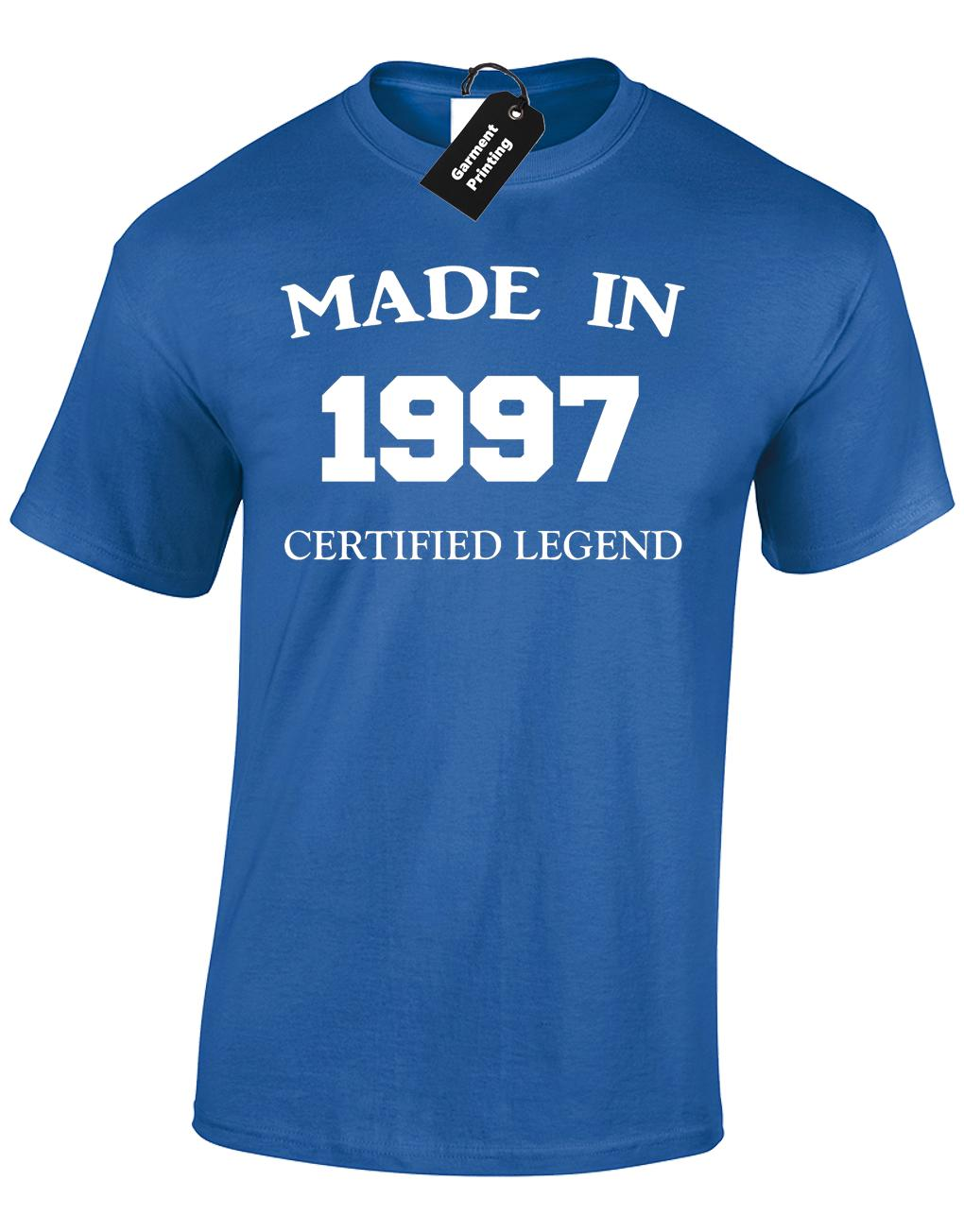 MADE IN 1997 MENS T SHIRT FUNNY 21ST BIRTHDAY GIFT PRESENT IDEA MUM DAD DESIGN 2018 Funny Tee 100 Cotton Cool Lovely Summer Shirt On Buy Shirts From