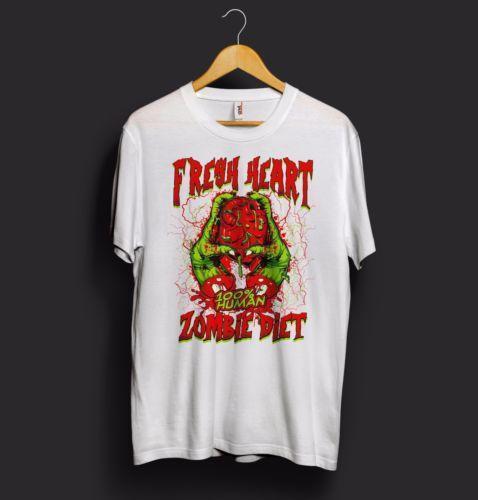 Grosshandel Neues Herz Halloween T Shirt 100 Menschliches Zombie