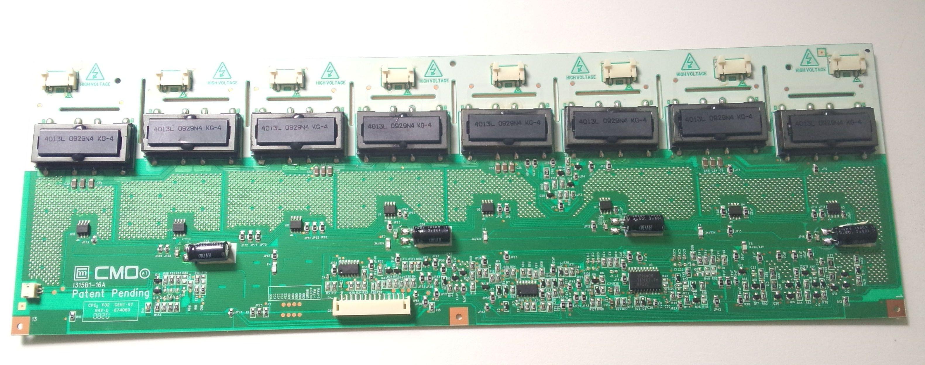 Free Shipping 100% Tested Work Used Original LCD Backlight Inverter Board  TV Board Unit I315B1-16A 1315B1-16A Screen V315B1-L01