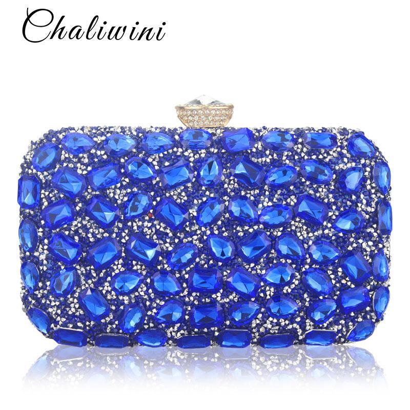 b68686c72 Compre Mulheres Evening Bag Sacos De Embreagem De Ouro Das Senhoras Do  Partido Azul Embreagens De Embreagem De Casamento Roxo Bolsas De  Bags_wallets, ...