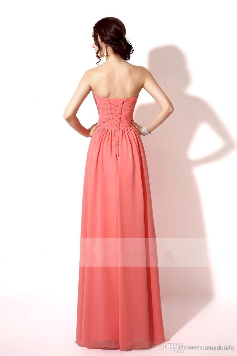 2019 In Stock Cheap Bridesmaid Dresses Sexy Coral Mint Red Orange Lilac Champagne Sweetheart Lace Up Maid of Honor Formal Prom Dress Gowns