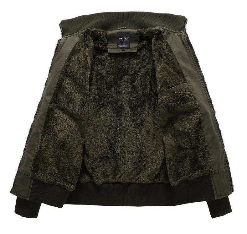 LONMMY 2017 Bomber jacket men Cotton Wool liner thicken Winter coat men Military jaceket mens jackets coats men army M-4XL