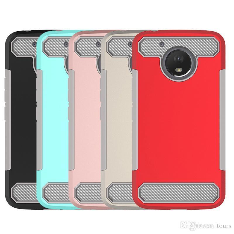 For MOTO E4 Plus Case Carbon Fiber Hybird Soft TPU Hard PC Back Cover Phone  Cases for MOTO E4 plus
