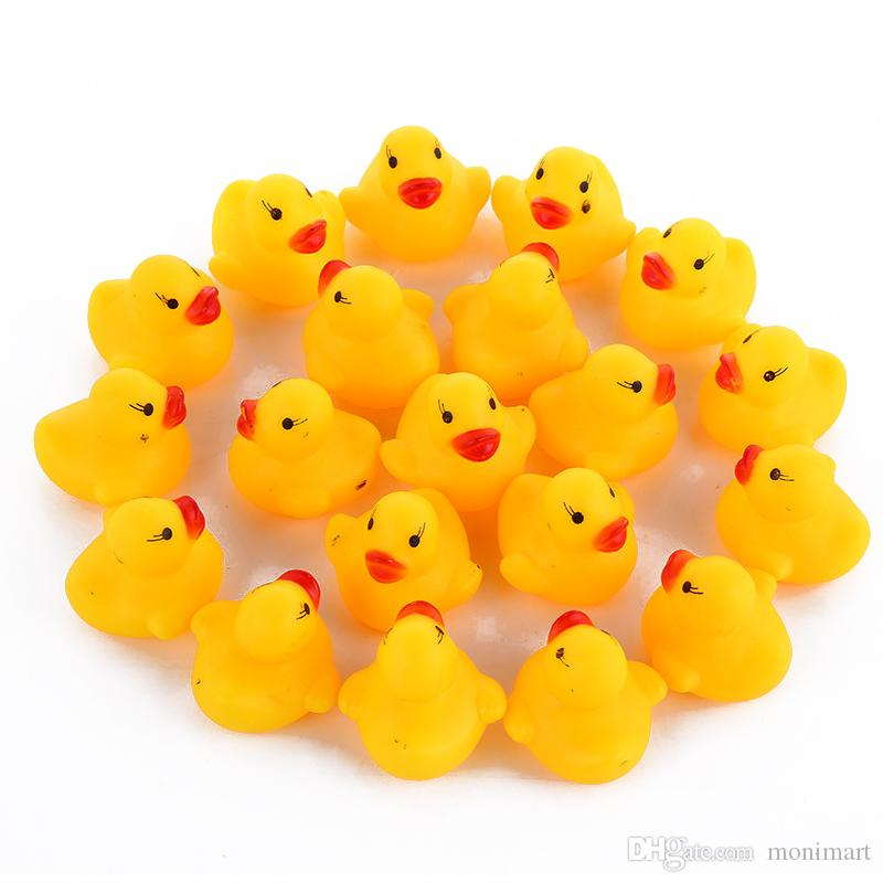 البط حمام الطفل لعبة المياه اللعب صوتية الأصفر المطاط الاطفال الاستحمام الأطفال شاطئ سباحة هدايا معدات أطفال حمام أطفال المياه