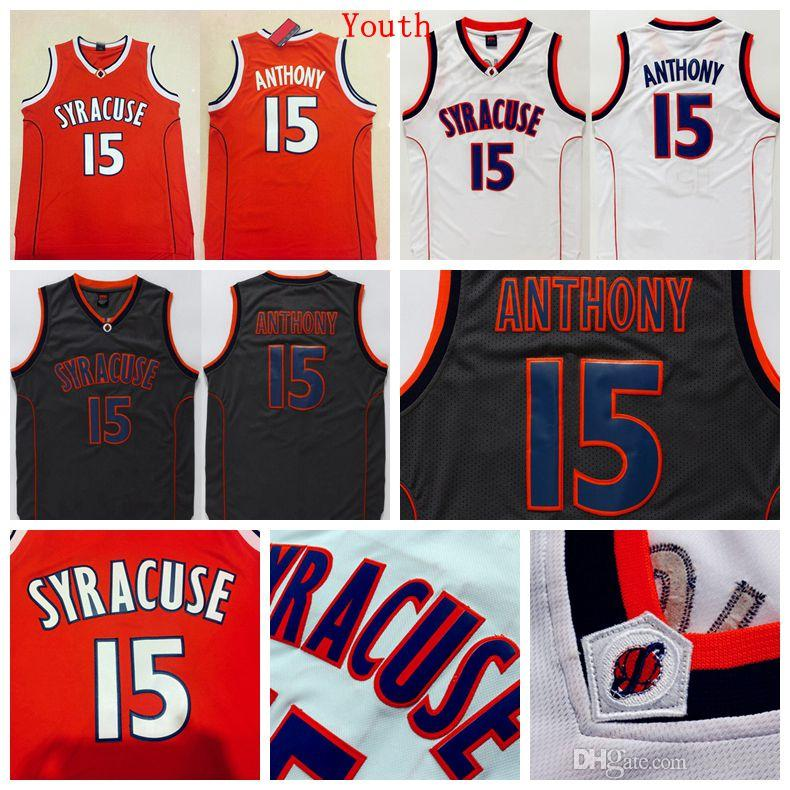 online retailer f5947 010d5 norway syracuse orange 15 carmelo anthonyncaa orange jersey ...