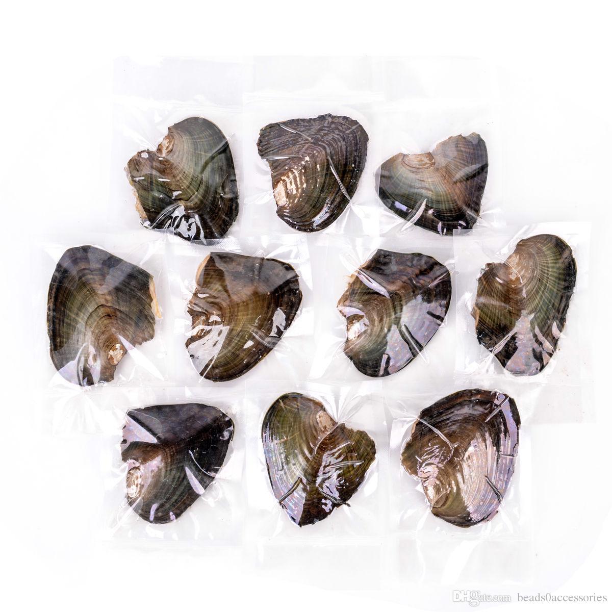 Beyaz Mor Pembe Siyah Akoya Yuvarlak Tatlısu İnci İstiridye Gerçek Inci ile 6-7mm Tatlısu İnci Vakum Paketleme