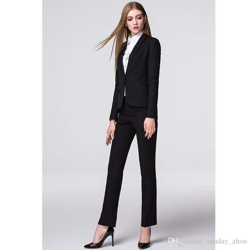 5478a774 Compre Nueva Promoción Nuevo Llega Por Encargo Primavera Otoño Formal  Trajes De Mujer Elegante Moda Damas Uniformes De Oficina Para Ropa De  Trabajo A $118.6 ...
