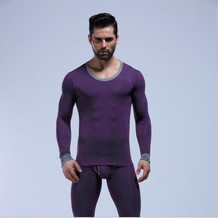 Nuevo conjunto largo de johns para hombre de WJ algodón lycra legging masculino otoño e invierno ropa interior térmica Conjunto de Johns largo es M L XL
