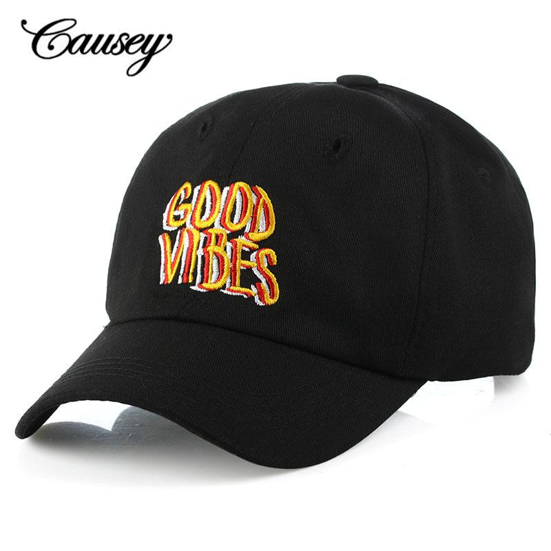 ef3fd52b 2018 New Men Women Good Vibes Dad Hat Embroidered Baseball Cap Curved Bill  100% Cotton Casquette Brand Bone Fashion Hats Cap Rack Caps From Duoyun, ...