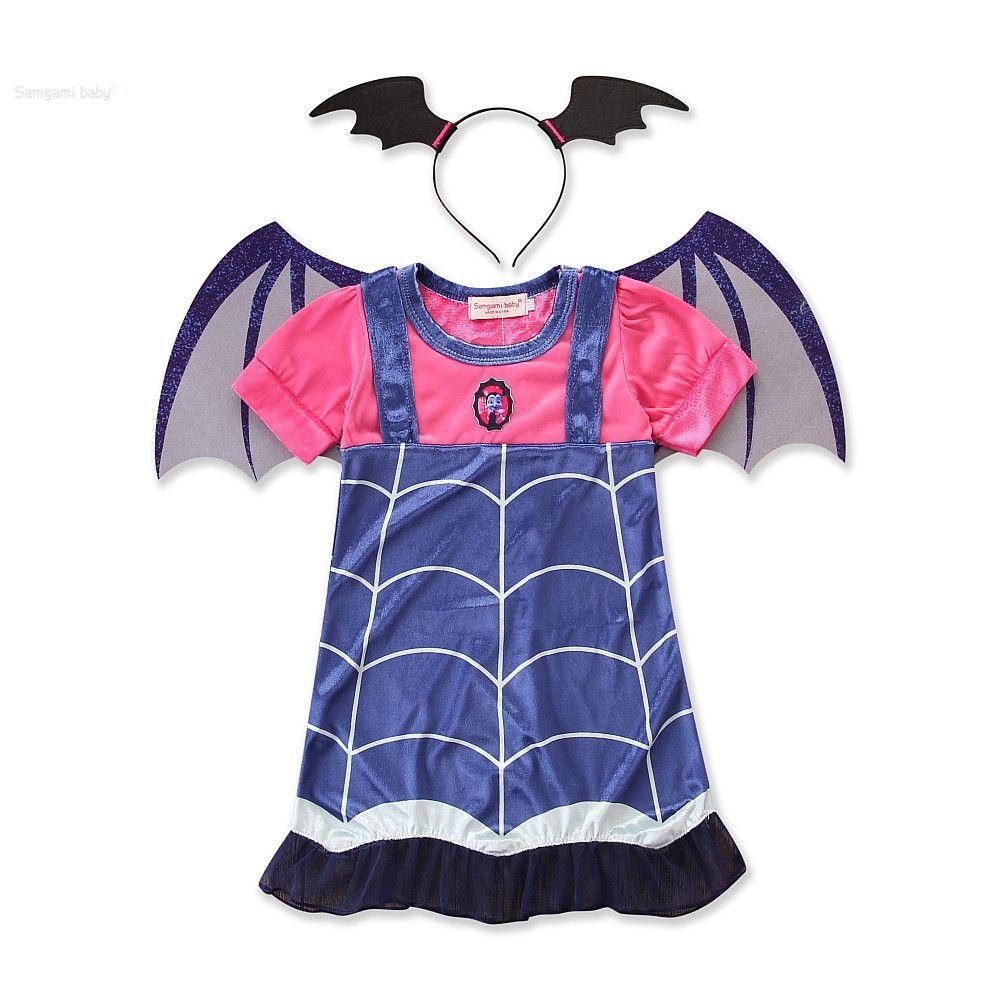 Acquista Halloween Bambini Neonate Costume Bambini Vampiro Strega Ragazza  Cosplay Carnevale Kids Party Principessa Fancy Dress Fantasia A  9.64 Dal  ... 88acfed4f4e5